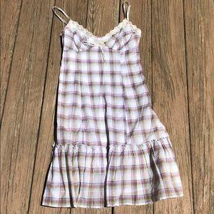 Guess country plaid lace dress